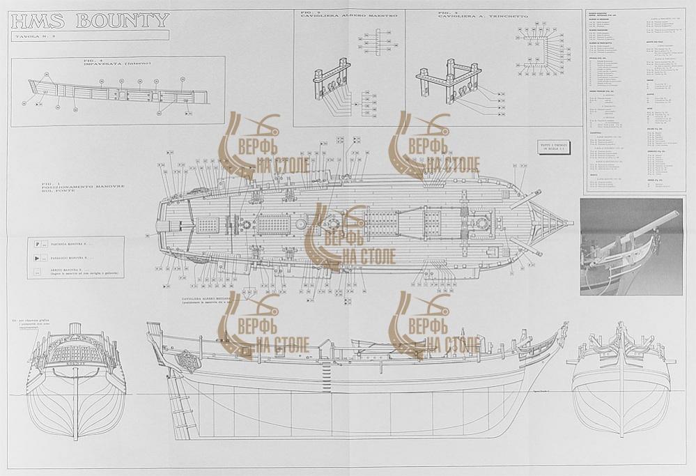 Чертеж HMS Bounty